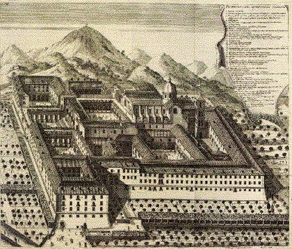 Ricostruzione grafica dell'Abbazia di Montecassino nel XII° secolo