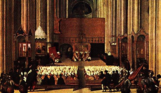 Concilio di Trento - Dipinto attribuito al Tiziano; Parigi, Louvre